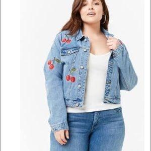Cherry jean jacket